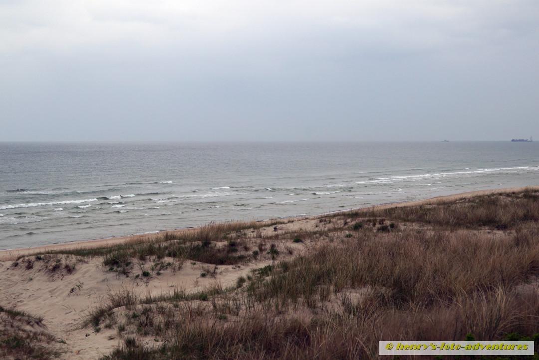 die Düne mit Blick auf die Ostsee