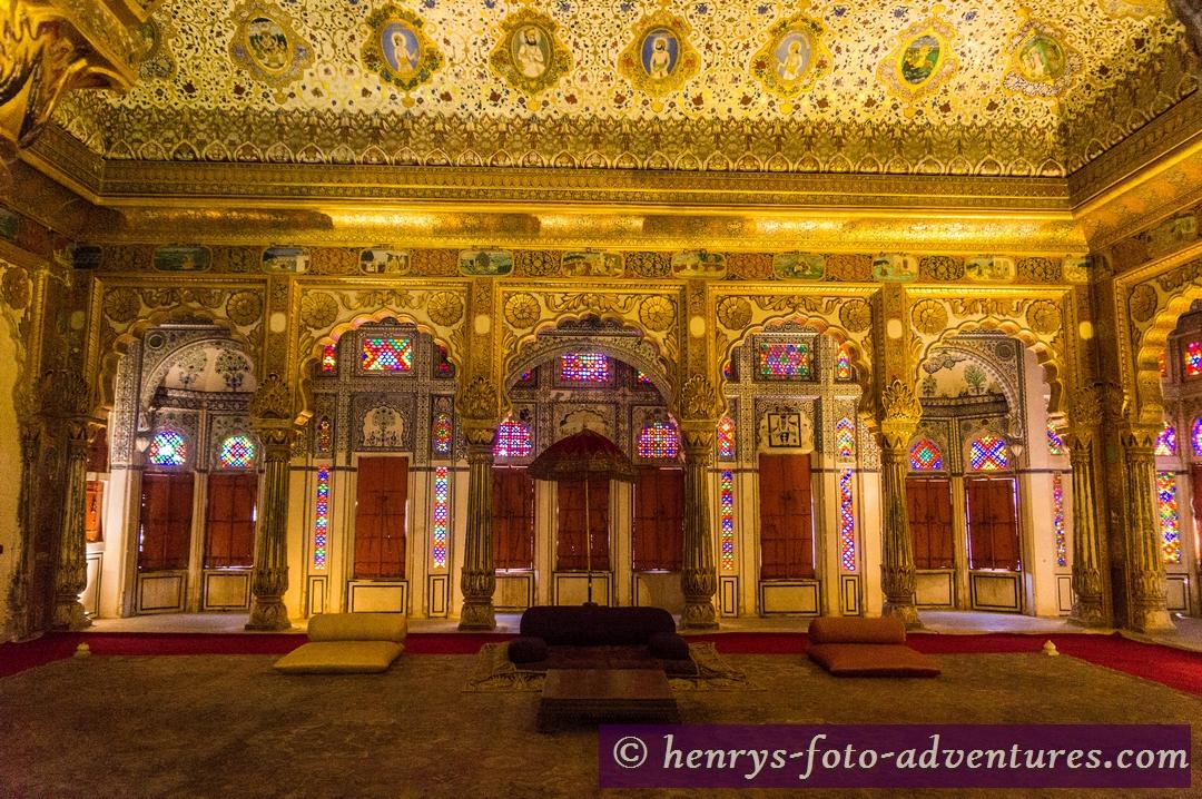 der Audienzsaal des Maharaja