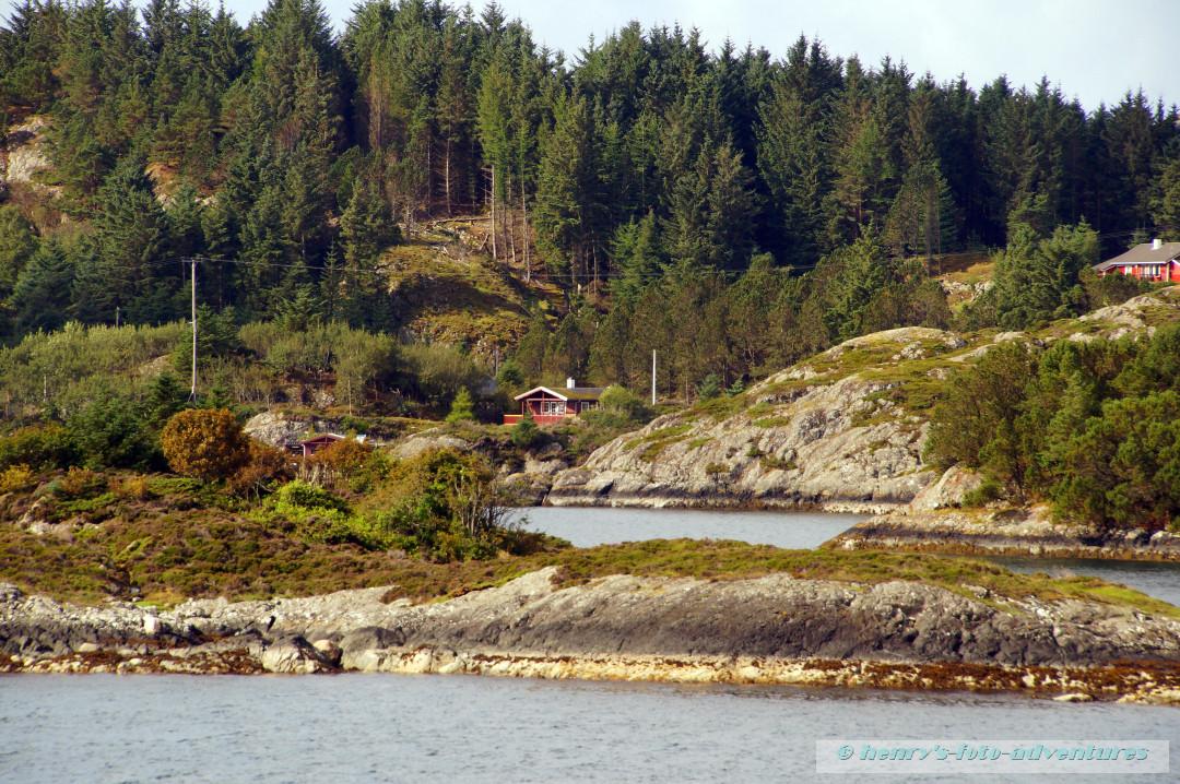 hier gibt es schon richtige Wälder auf den Inseln