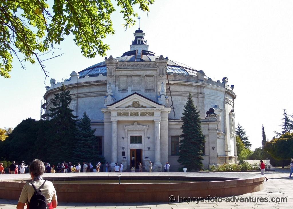 das Rundgebäude des Panoramamuseums