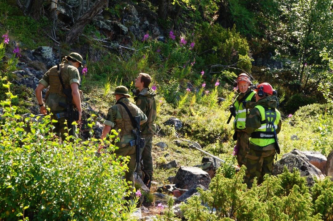 norwegische Grenzsoldaten