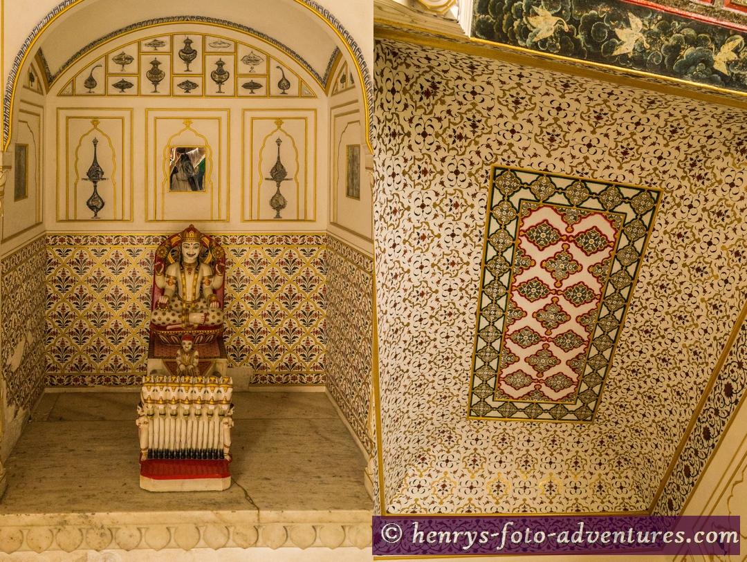 Kleine Tempel  Deckenbemalung