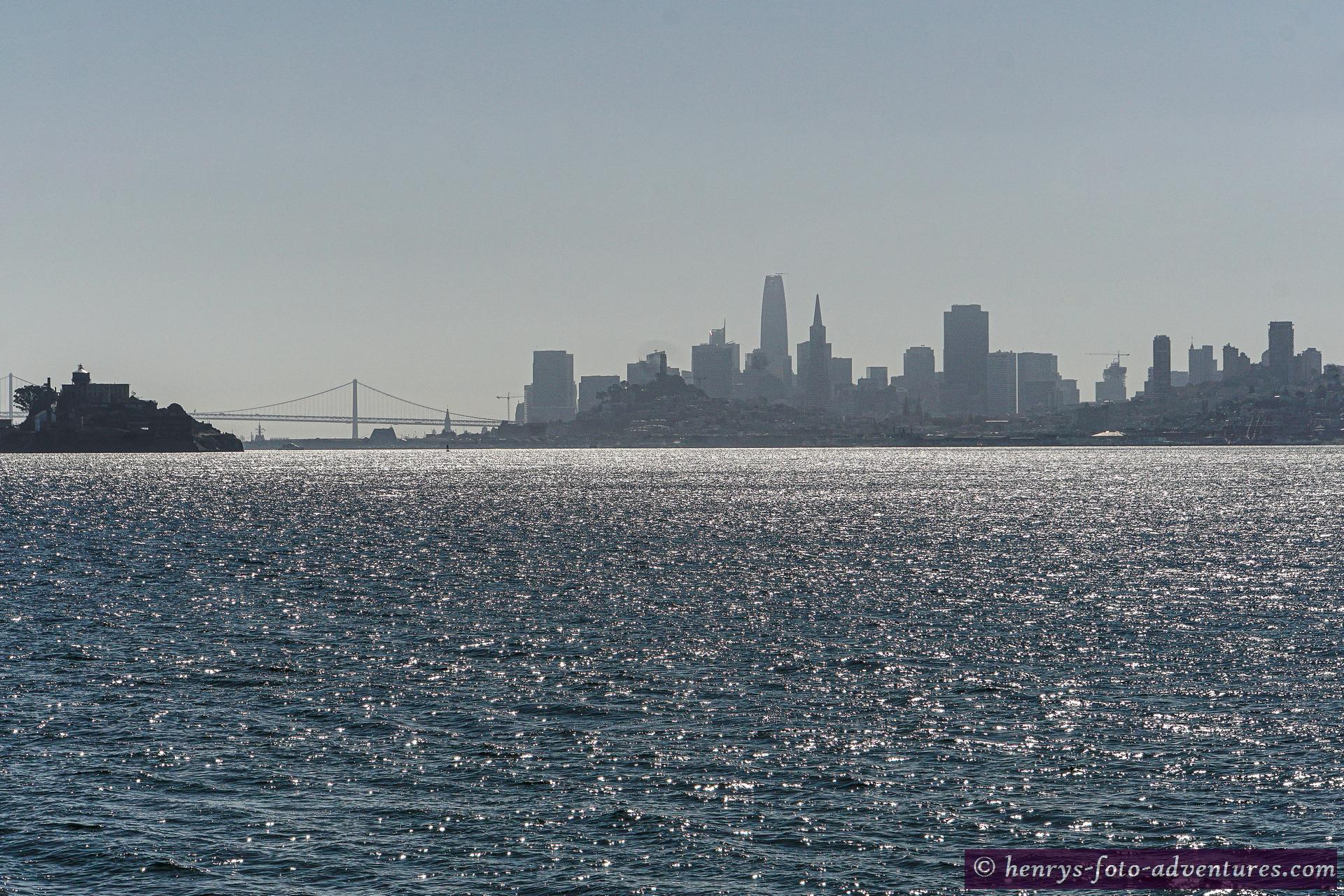 Blick auf die Silhouette von SF