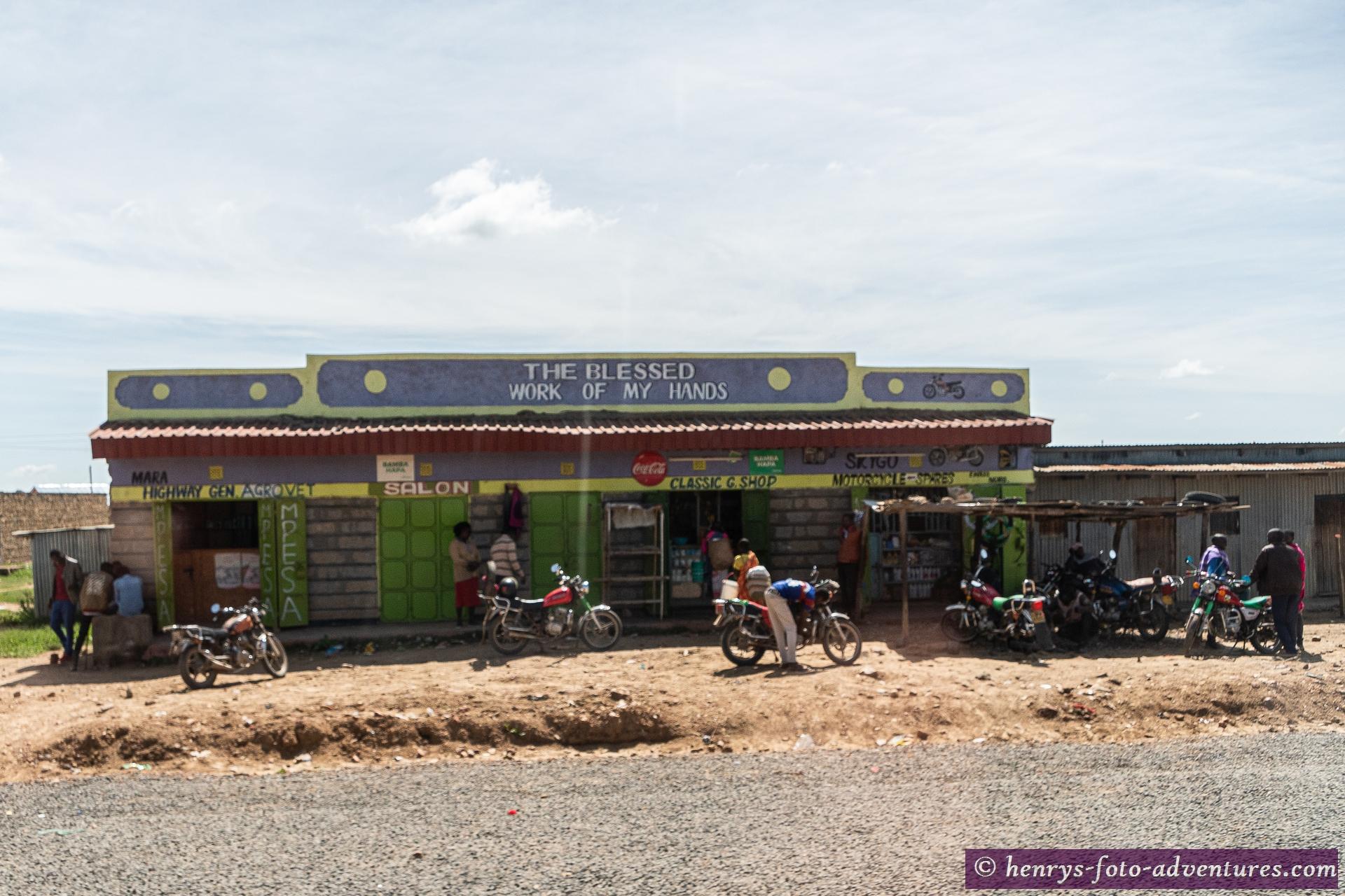 Motorrad-Taxi sind hier sehr beliebt und günstig