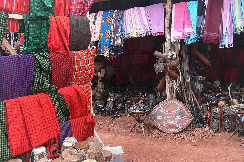 Shop mit Massai-Tüchern