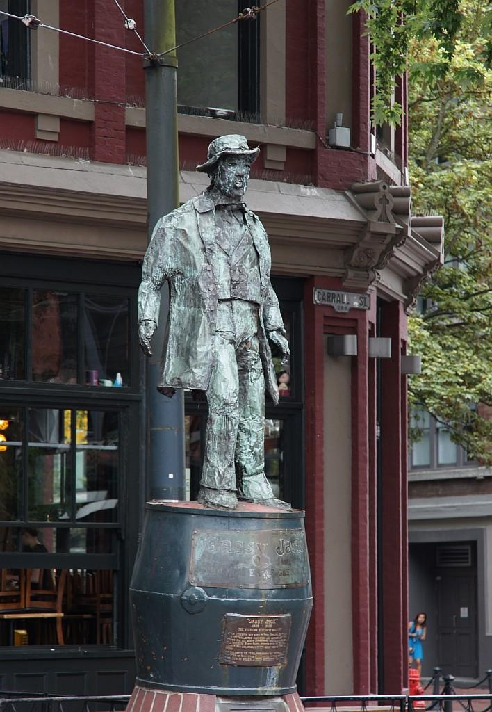 GASSY JACK, der Begründer des Stadtteils Gastown
