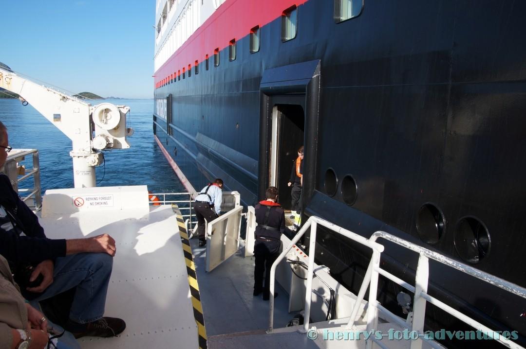 """""""austendern"""" in ein Schnellboot"""