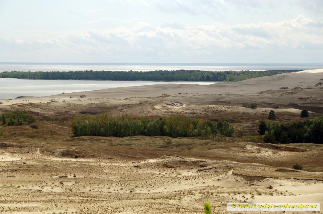 Blick nach Kaliningrad (russ. Enklave), dem ehemaligen deutschen Königsberg