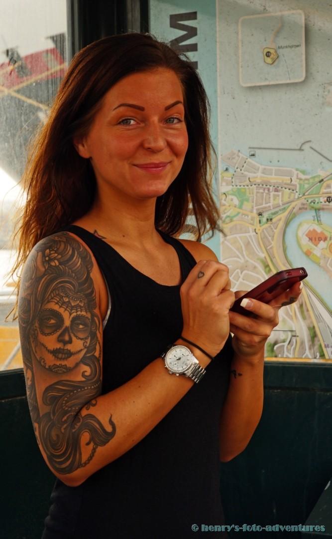 war sie selbst Model für ihr Tattoo?