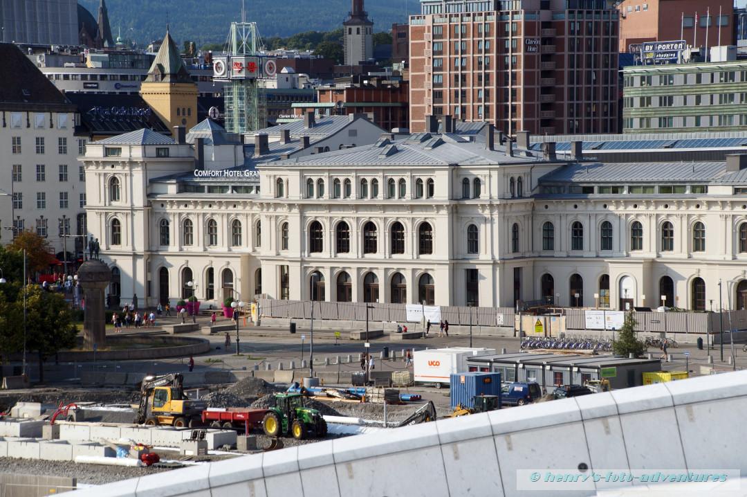 Blick auf den Hauptbahnhof