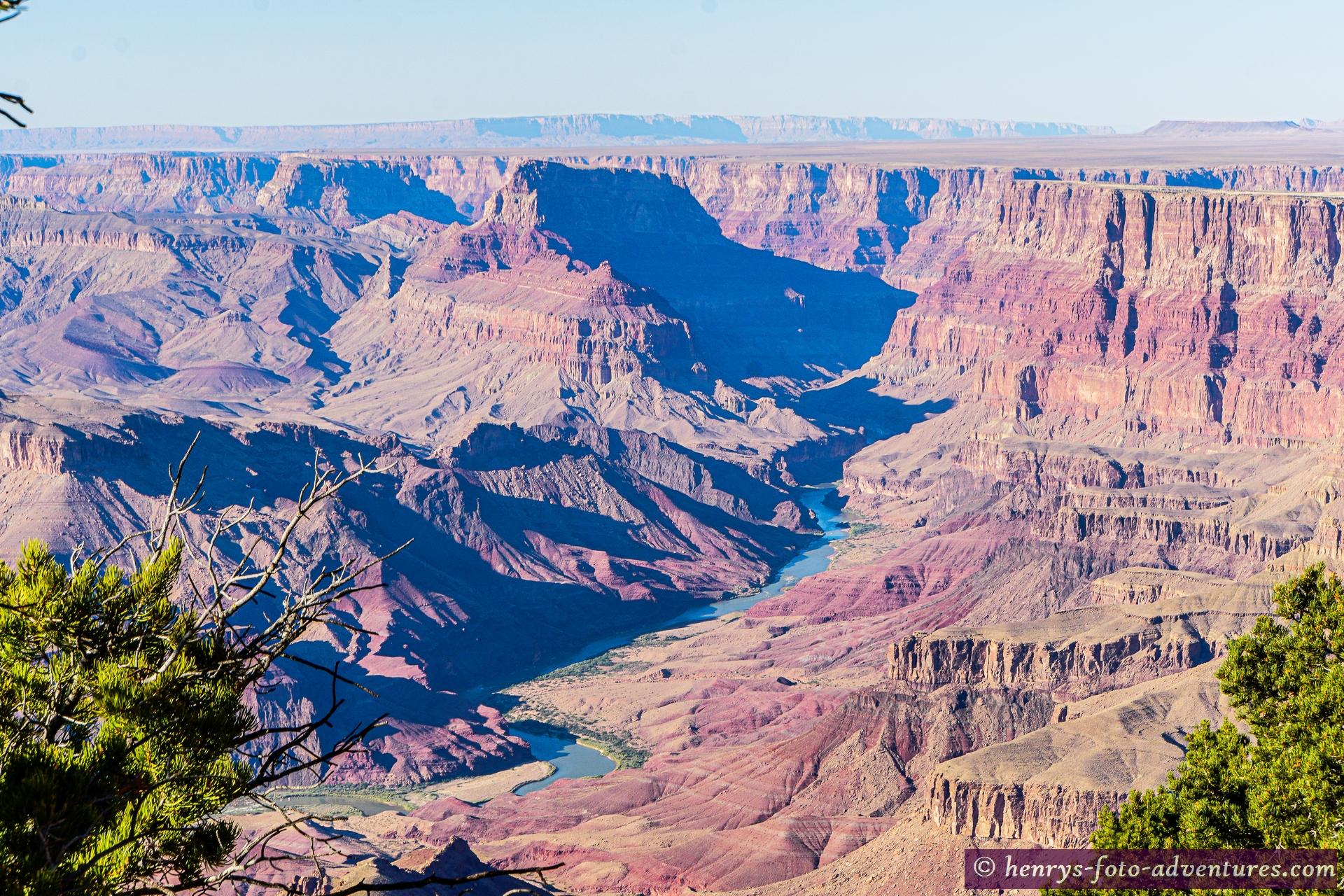unsere ersten Blicke in den Gran Canyon