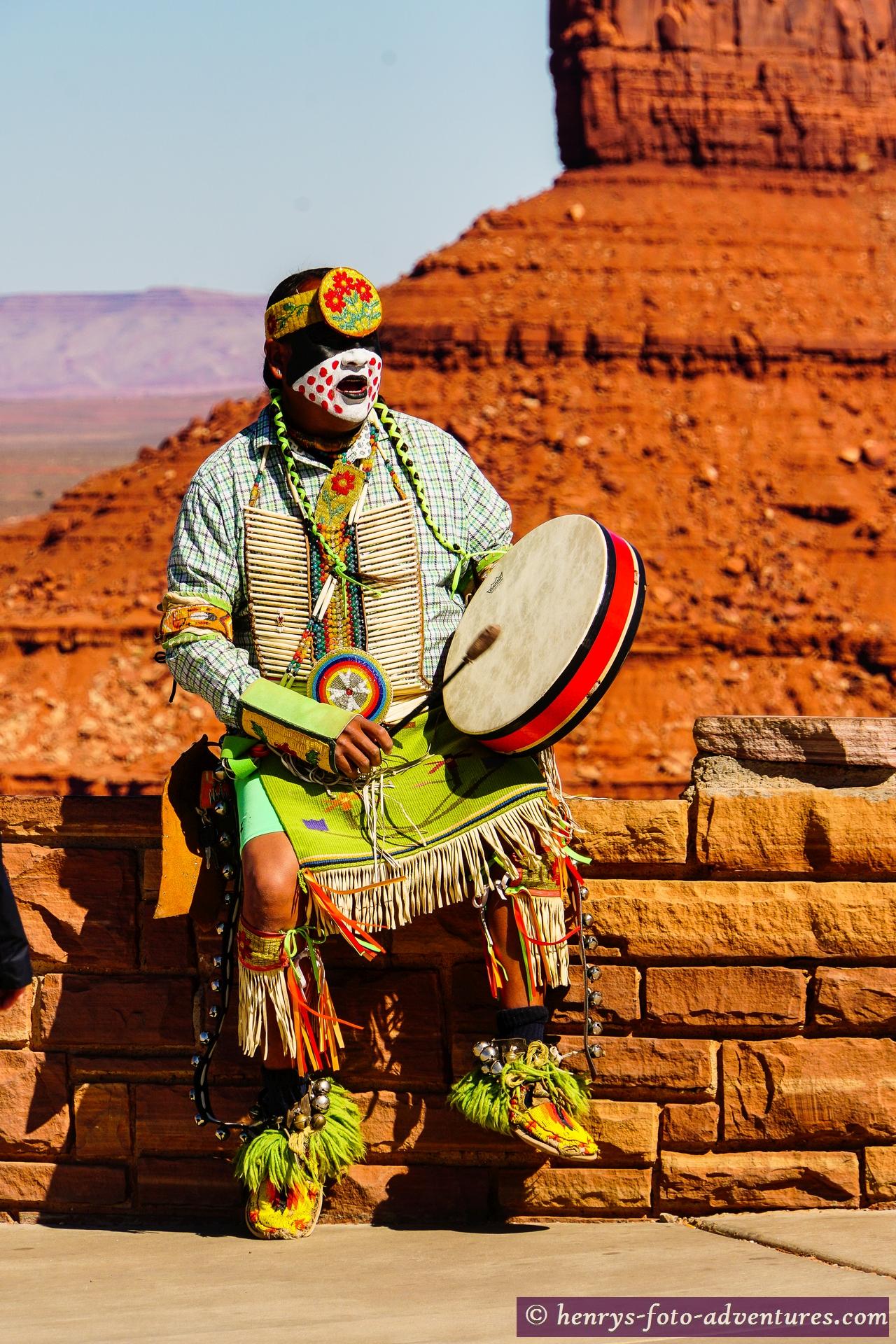 Navajo in Kriegsbemalung