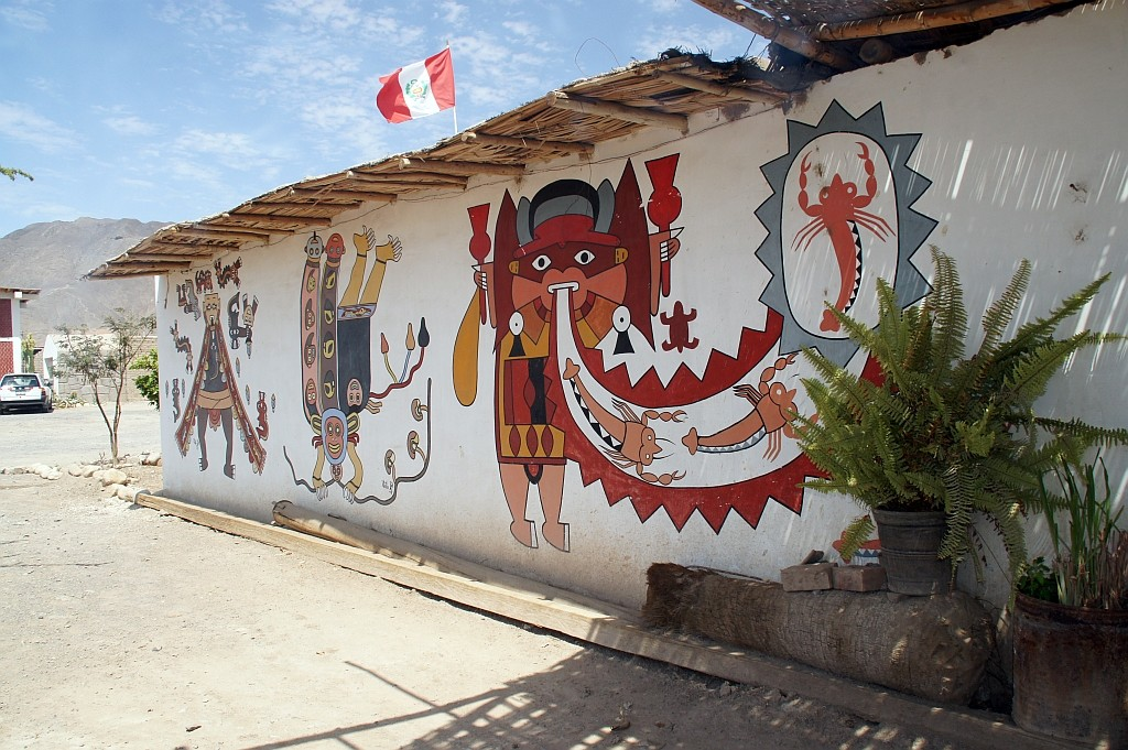beim Keramiker, er arbeitet nach alter Inka Art