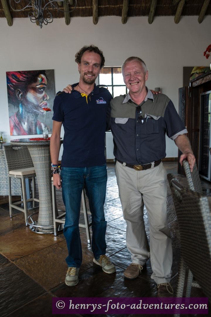 Gregg mit Philip, unserem österr. Reiseleiter