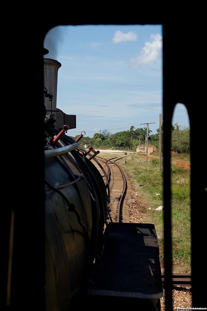 Aussicht von Lokfenster