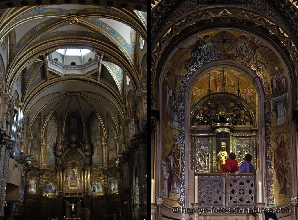 Der Altar, hier kann man zur gotischen Marien-Statue hinaufsteigen