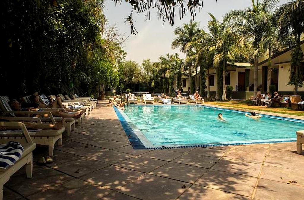 """Ranthambore, """"Hotel Ranthambore Regency"""", hier könnte man es länger aushalten"""