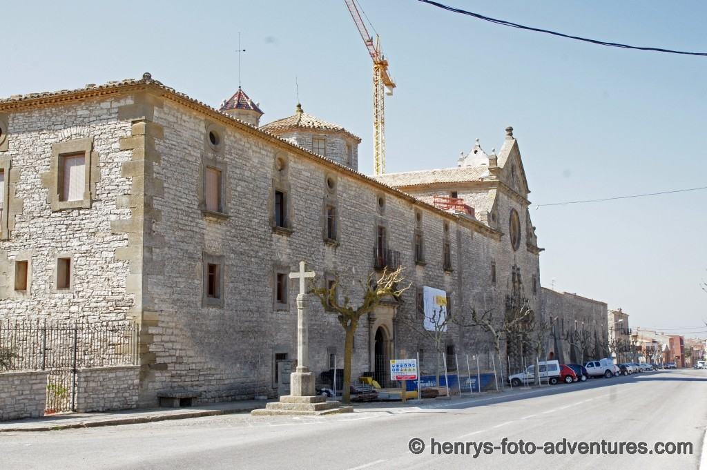 das Kloster Santurari de Sant Ramon (wird gerade renoviert)