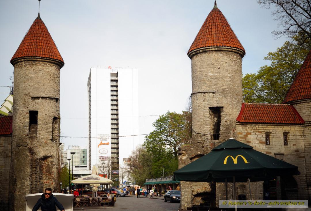 die untere Stadtmauer