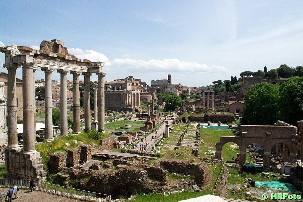 Abschiedsblick in das Forum Romanum