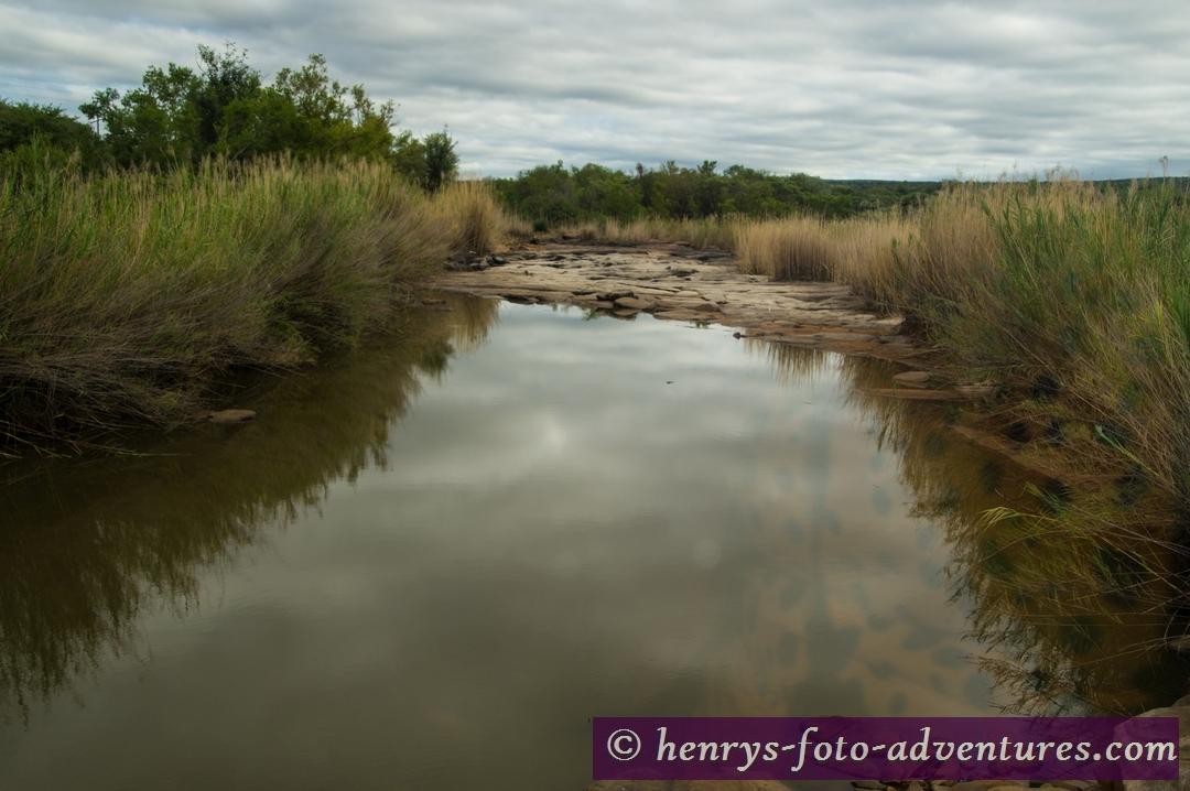 überqueren einen Fluss