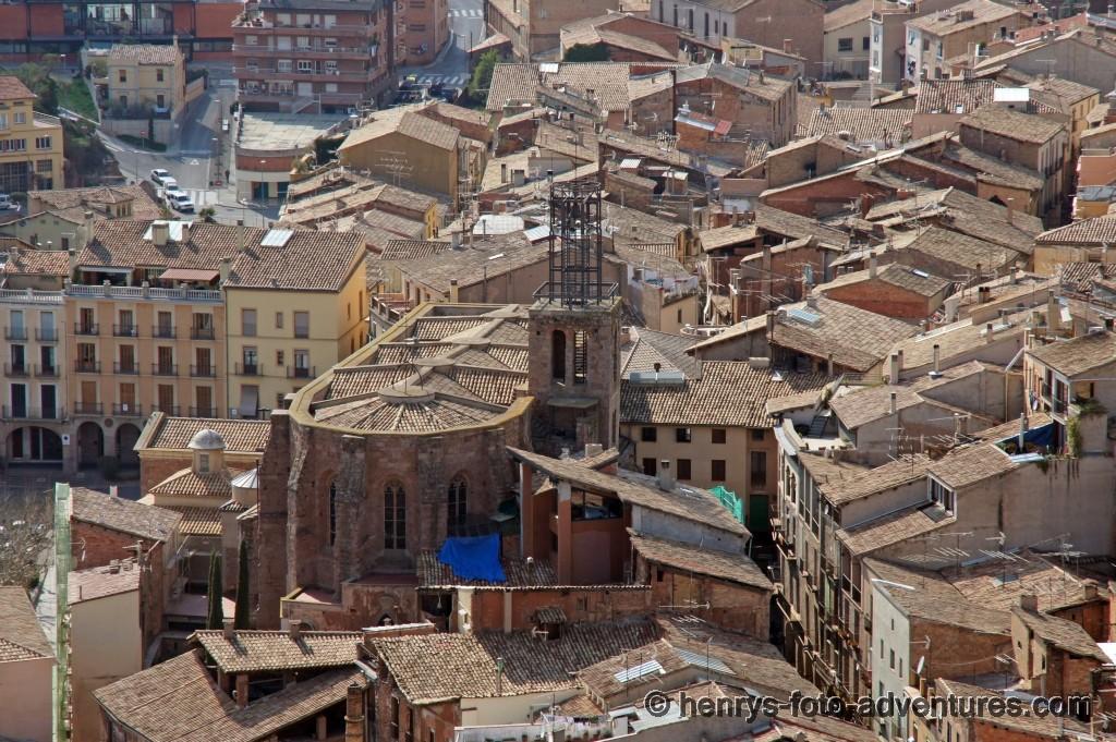 Blick auf die Stadt Cardona