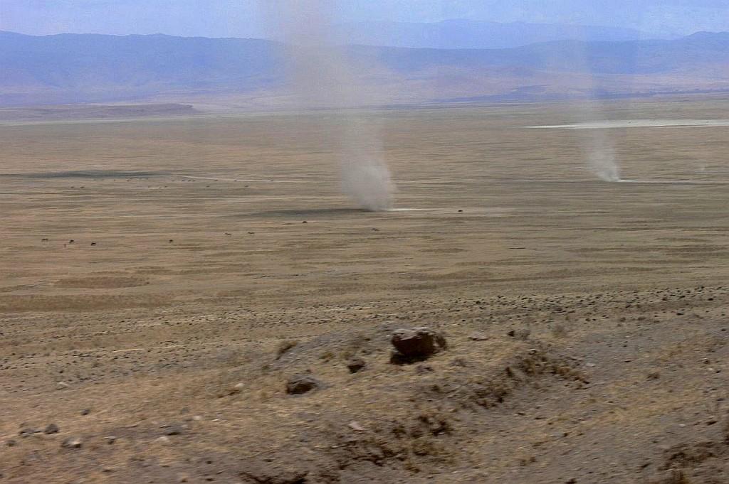 Fahrt in den Krater