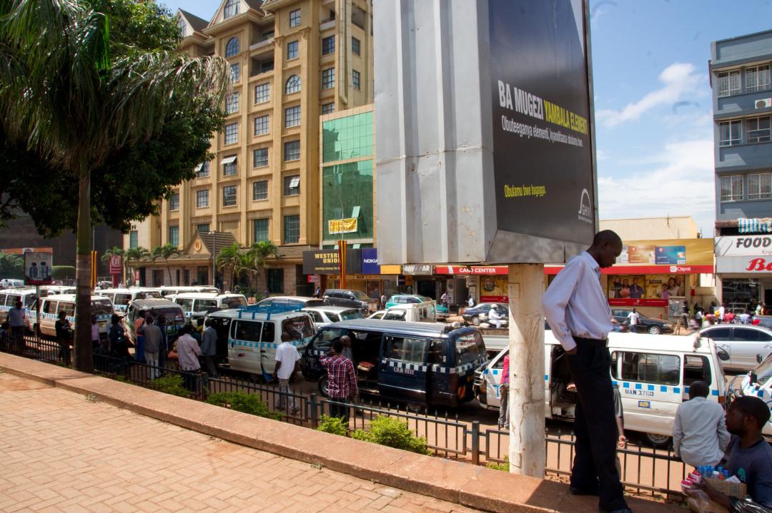 sehr viel los hier in Kampala