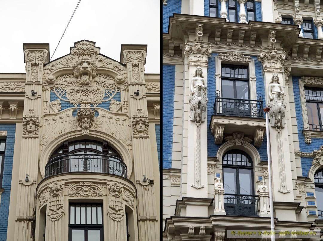 ca. 800 Gebäude im Jugendstil gibt es in Riga, meist Anfang des 20. Jh. erbaut