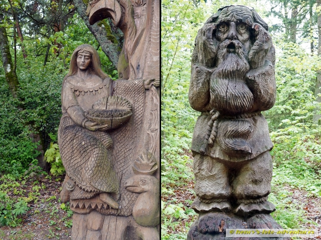 Märchenfiguren in Holz geschnitzt