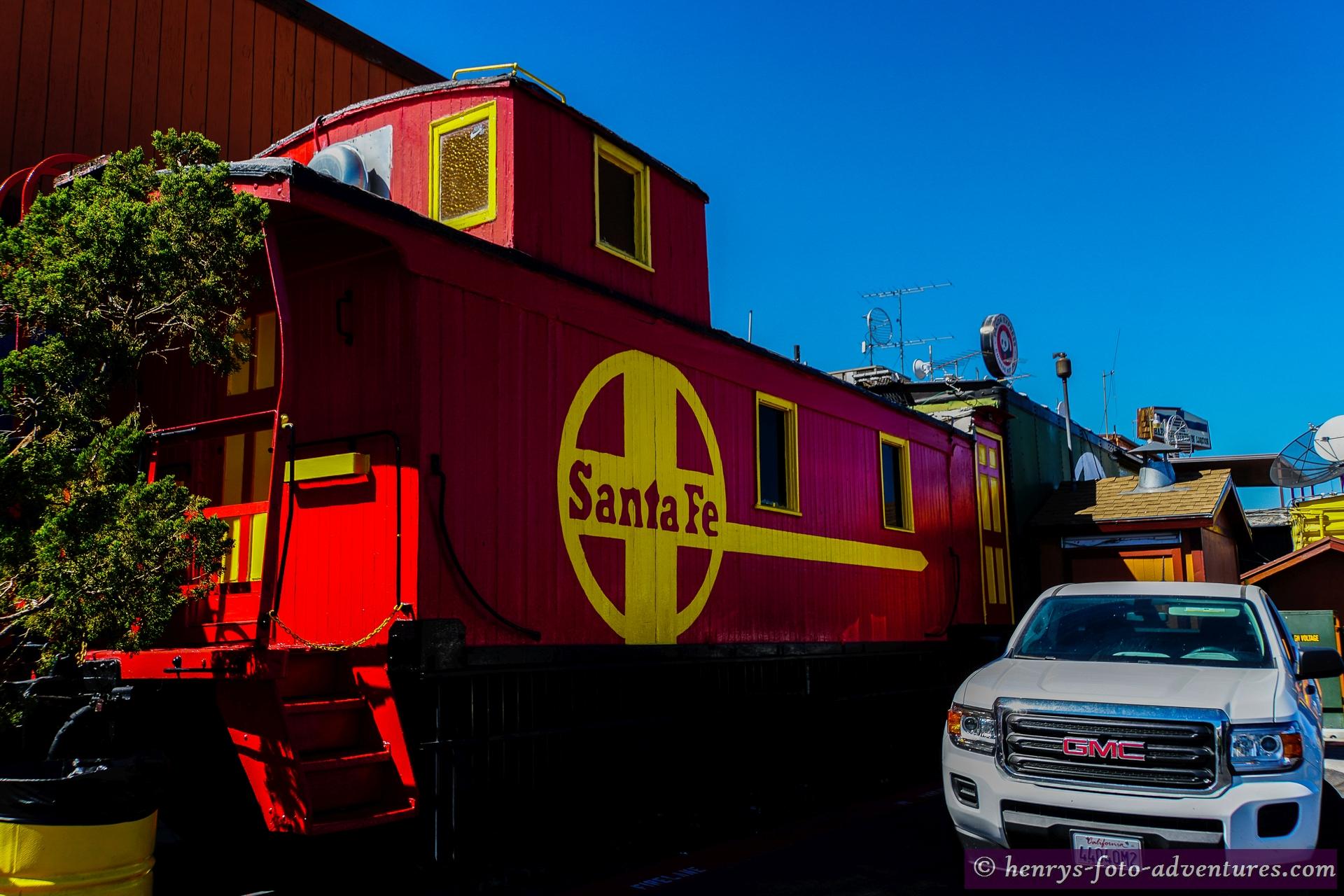 Pause in einem Restaurant aus Eisenbahnwagons