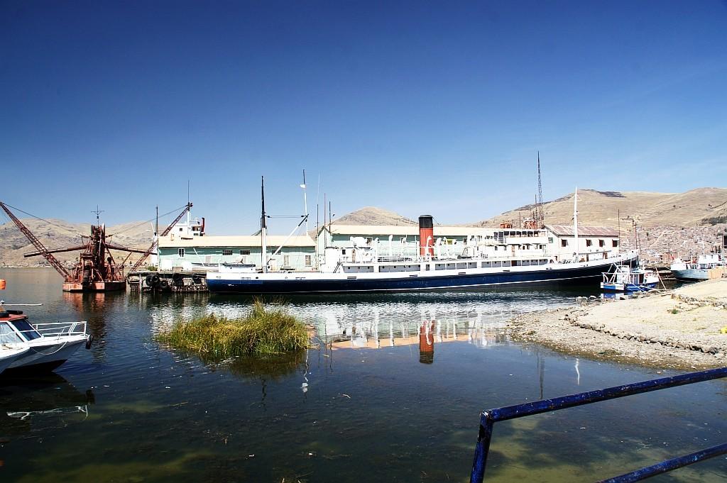 belgisches Dampfschiff im höchstgelegenen See