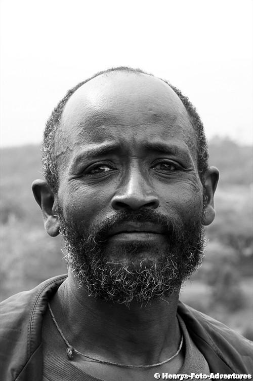 Mann vom Stamm der Dorze, Äthiopien 2011