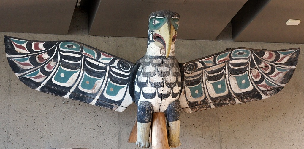 Antropologisches Museum, the EAGLE, ein wichtiges Symbol der First Nation