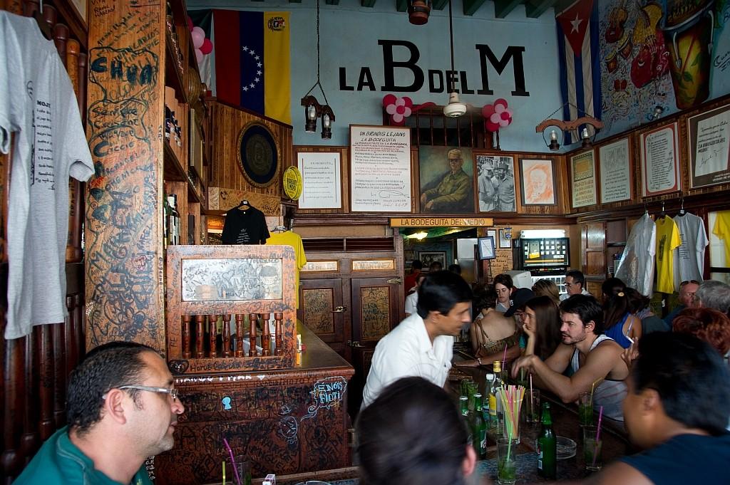 "Sein Stammlokal in Havana, die Bar ""la Bodeguita del Medio"""