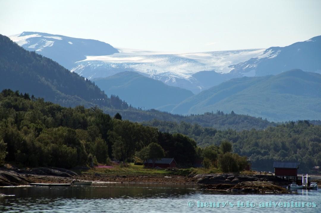 erster Blick auf den Gletscher