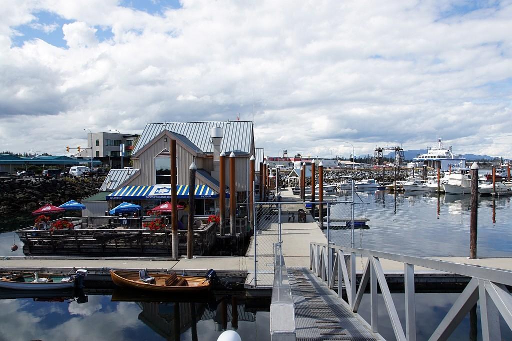 Blick auf den Fähr-Hafen