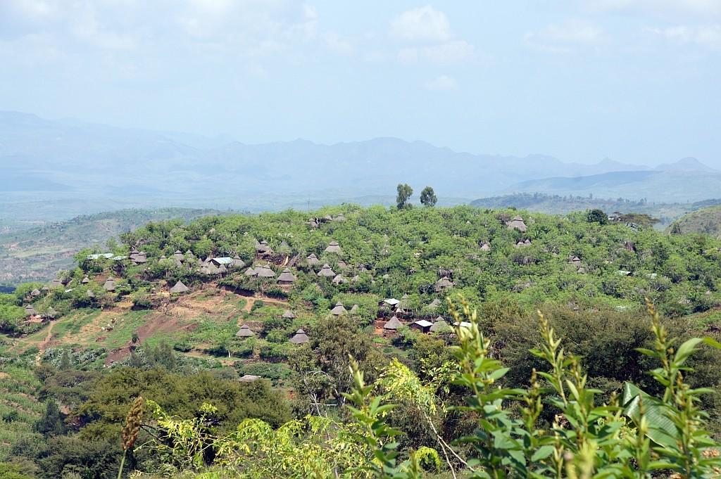 das Land der Konso, funktionierende Landwirtschaft