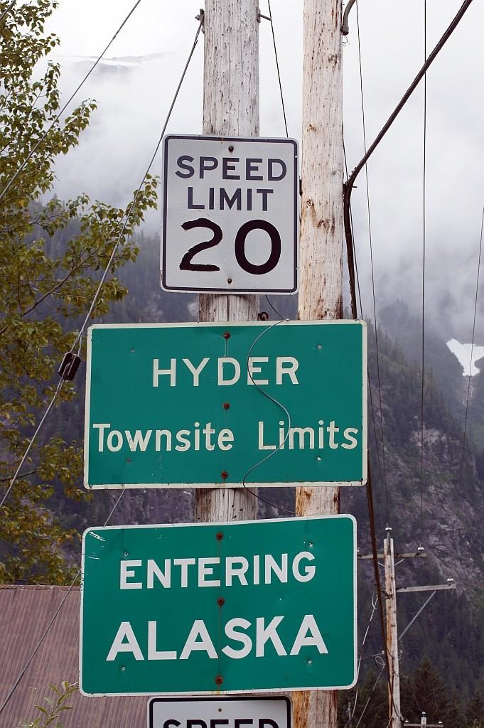 Hyder, hier ist die Zeit vor hundert Jahren stehen geblieben