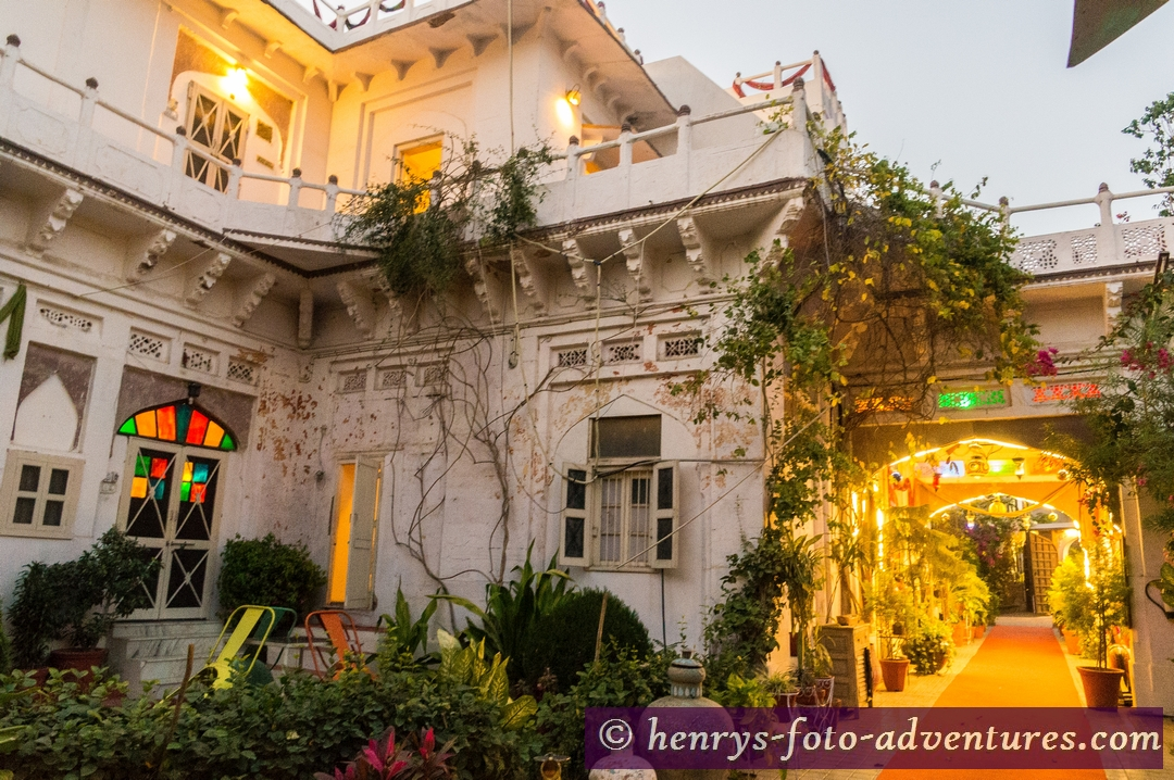 heute übernachten wir im Heritage-Hotel Kothi,