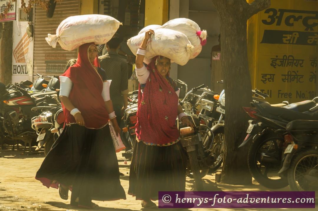 und wird von Frauen transportieren