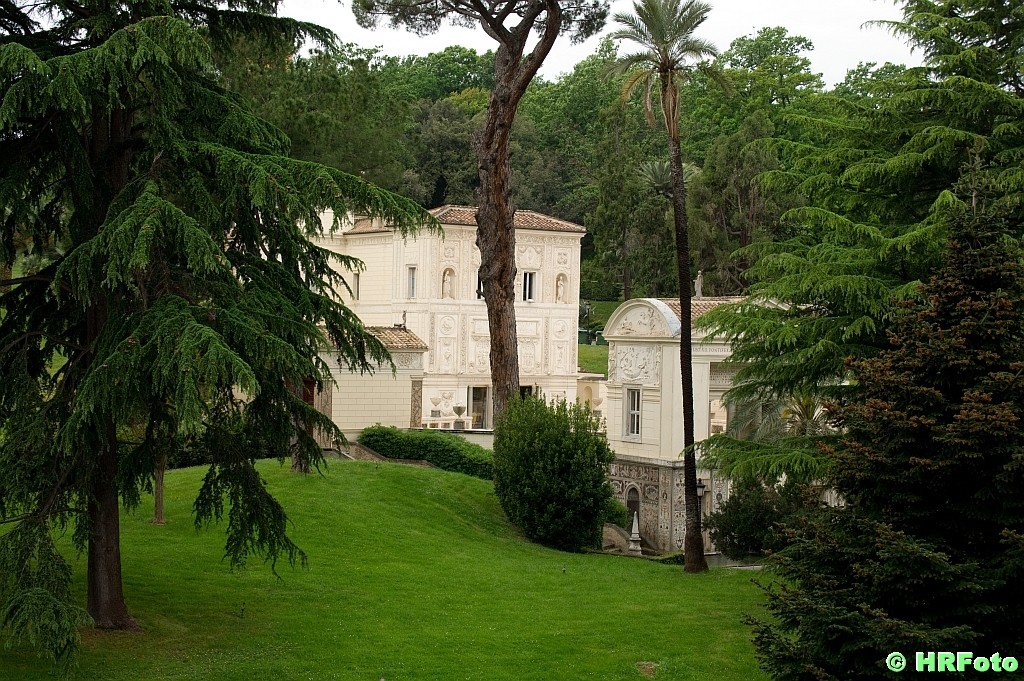 Blick in die Vatikanischen Gärten
