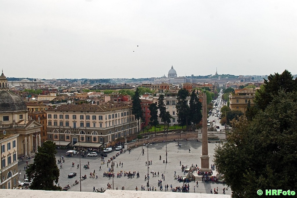 Blick auf die Piazza del Popolo