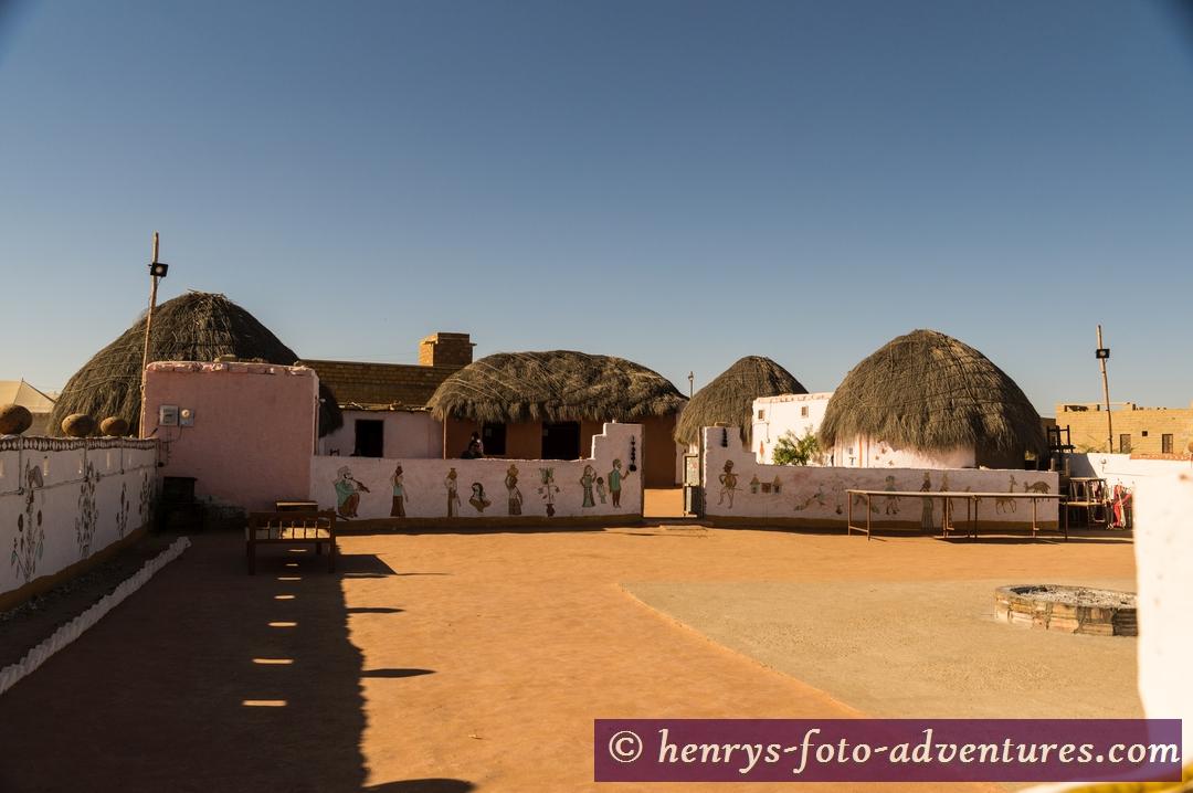 """Wüste Tar, """"Desert Camp"""", ein Wüstencamp neben den Sanddünen"""