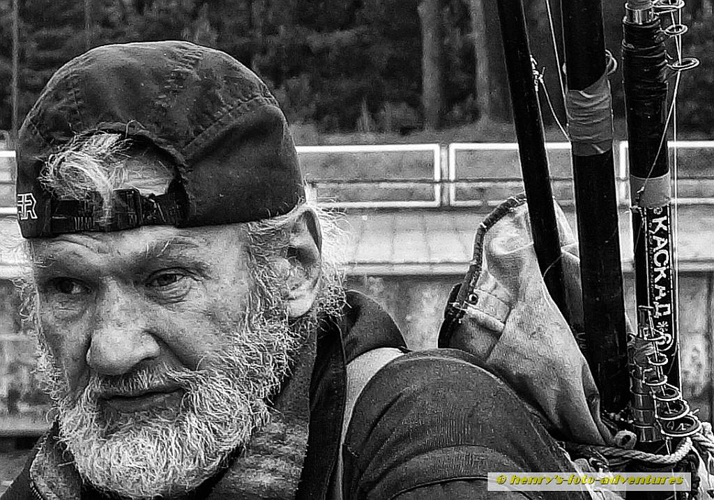 alter Fischer am Haff, Litauen