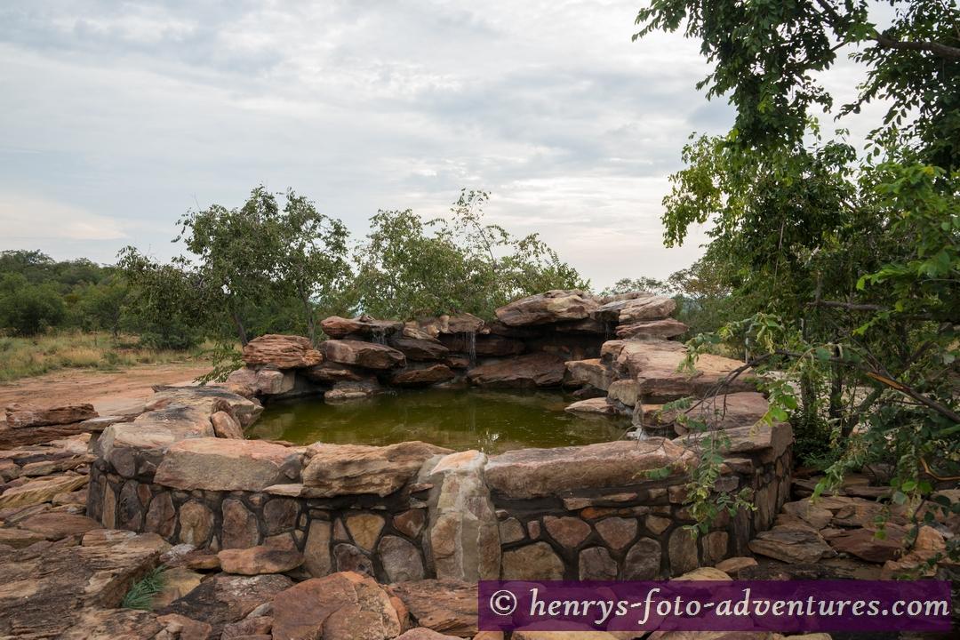 der Brunnen, er versorgt die ganze Anlage mit einwandfreiem Trinkwasser