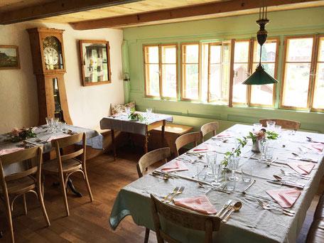Daniel Gisler Krinau Atelier Atelier-Café Café Restaurant Besenbeiz Toggenburg Ostschweiz Kulinarik geschlossene Gesellschaften