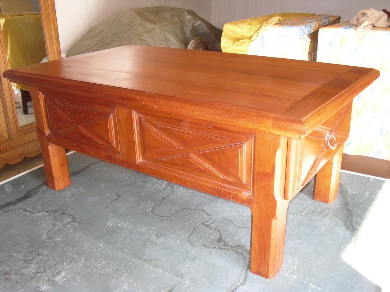 Ebénisterie, Table basse en Cerisier