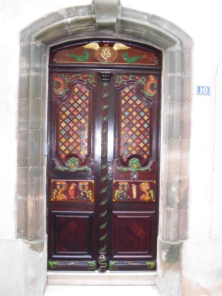 Menuiserie, Porte à thème XVIII éme en Chêne