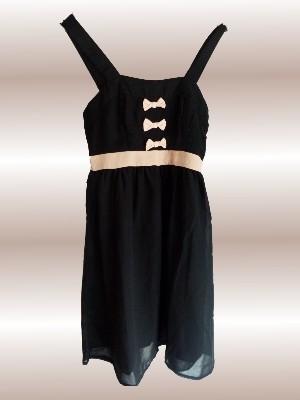 """Kleid """"Jannu"""" von Vero Moda in schwarz/altrosa (auch in schwarz/beige erhältlich) UVP 29,95 € - bei uns nur 17,50 € + Versandkosten nur 3,90 € - einmalig pro Bestellung!"""